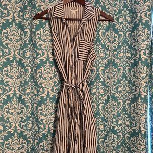 Old Navy striped sleeveless midi dress
